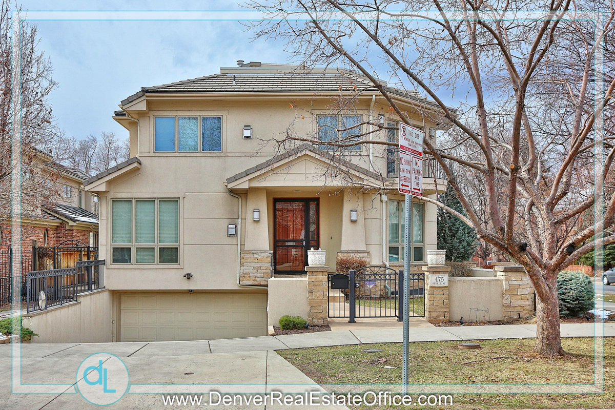 Homes On Steele Street In Cherry Creek Denver